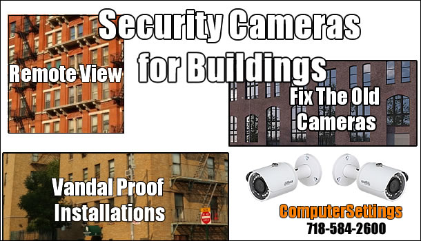 Security Cameras Installation Services for Buildings