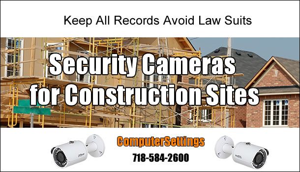 Security Camera Installation For Construction Sites